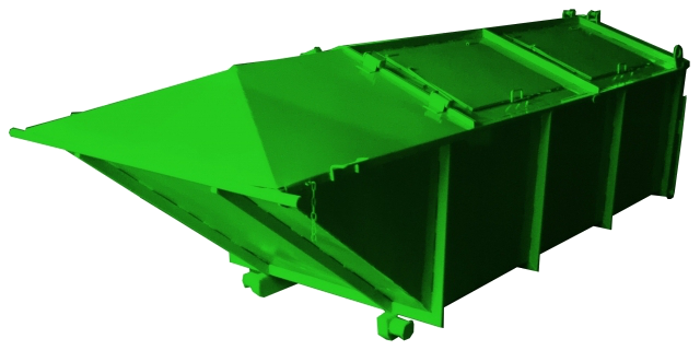 Вывоз мусора контейнером типа лодочка