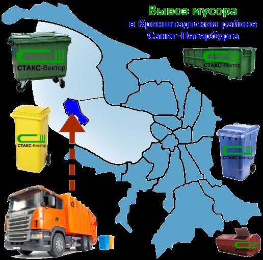 Вывоз мусора в Кронштадтском районе СПб