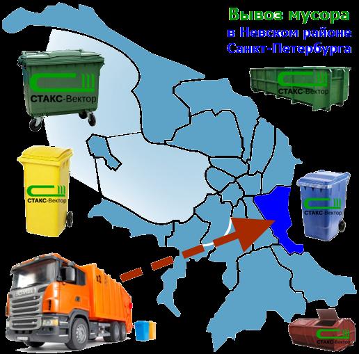 Вывоз мусора в Невском районе СПб